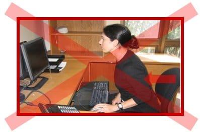 postura errata davanti al monitor