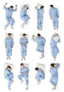 differenti posizioni per dormire