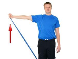 esercizio spalla elastico