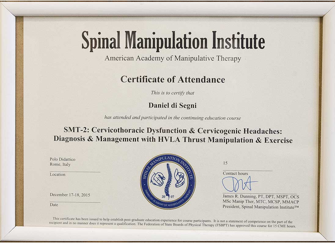Spinal Manipulation Therapy (SMT)