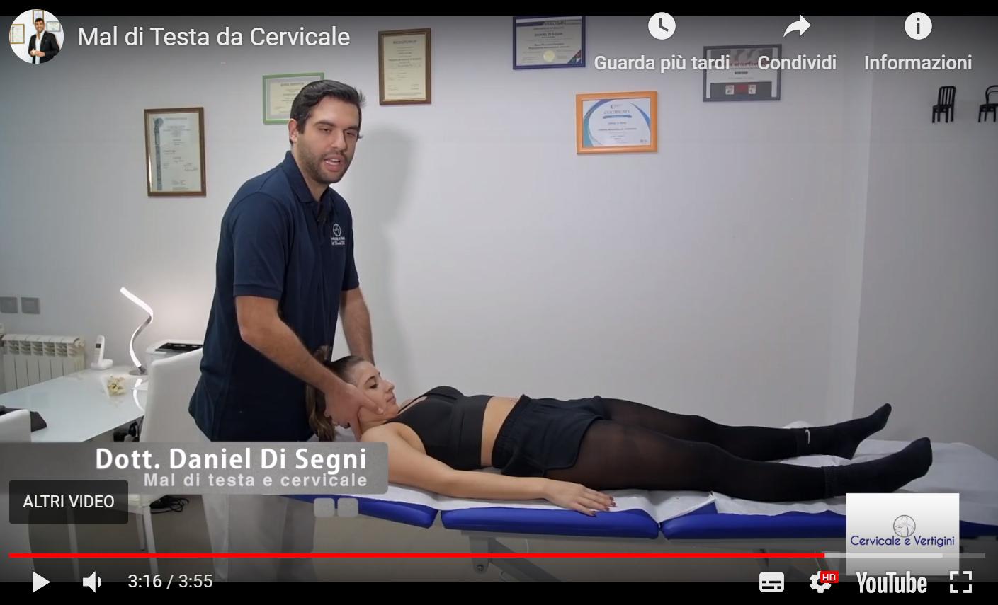 Video per Mal di Testa da Cervicale