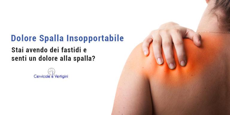 dolore spalla insopportabile